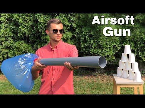 How to Make an Airsoft Cannon - Easy Homemade Air Gun