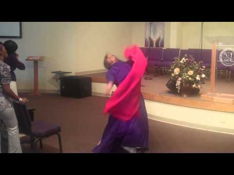 Prophetic dance by Minister Toshia Coleman. LION OF JUDAH by Shana Wilson