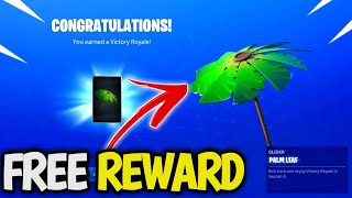 «HOW TO Get FREE Umbrella in Fortnite! Nouveau PALM LEAF GLIDER! Fortnite Saison 8 Free Glider!