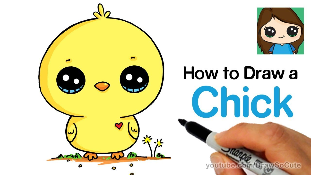 how to draw a baby chick cute and easy youtube