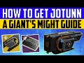 Destiny 2 Shadowkeep : HOW TO GET JOTUNN : A Giant's Might Quest Guide