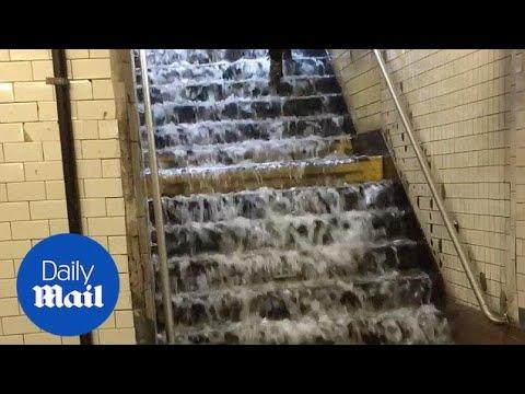 Heavy rain in New York City - Daily Mail