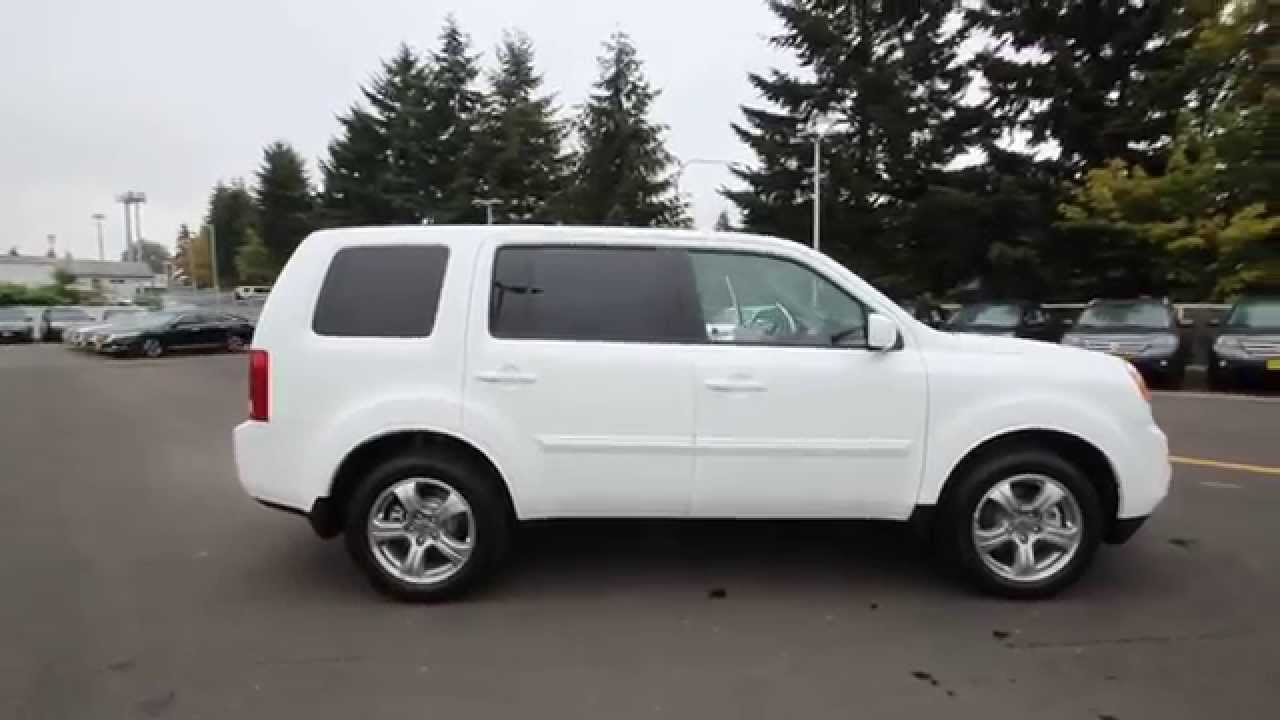 2015 honda pilot ex l taffeta white fb021547 seattle renton youtube. Black Bedroom Furniture Sets. Home Design Ideas