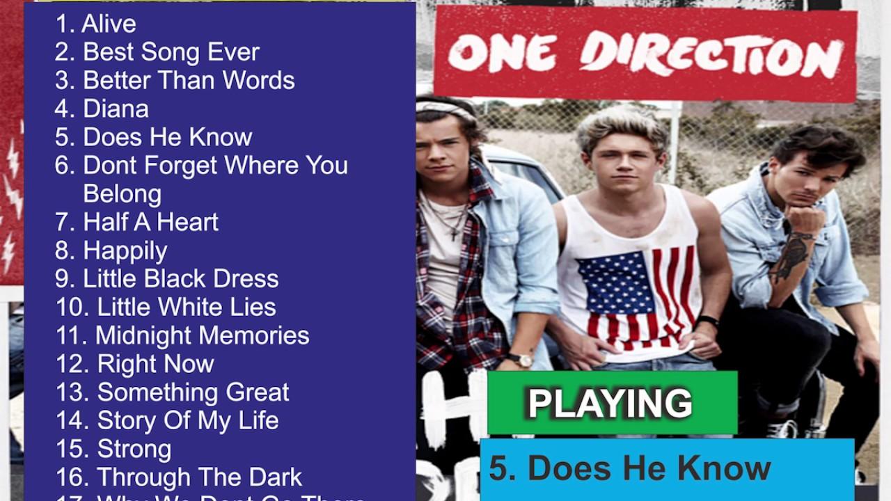 One Direction - Midnight Memories [FULL ALBUM]