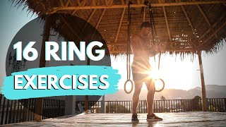 16 GYMNASTIC RING EXERCISES