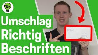 Briefumschlag beschriften a4 ✅ TOP ANLEITUNG: Für Kuvert, Brief Umschlag, Versandtasche & Paket!!!