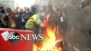 Inauguration Day Protesters Clash in the Streets of DC