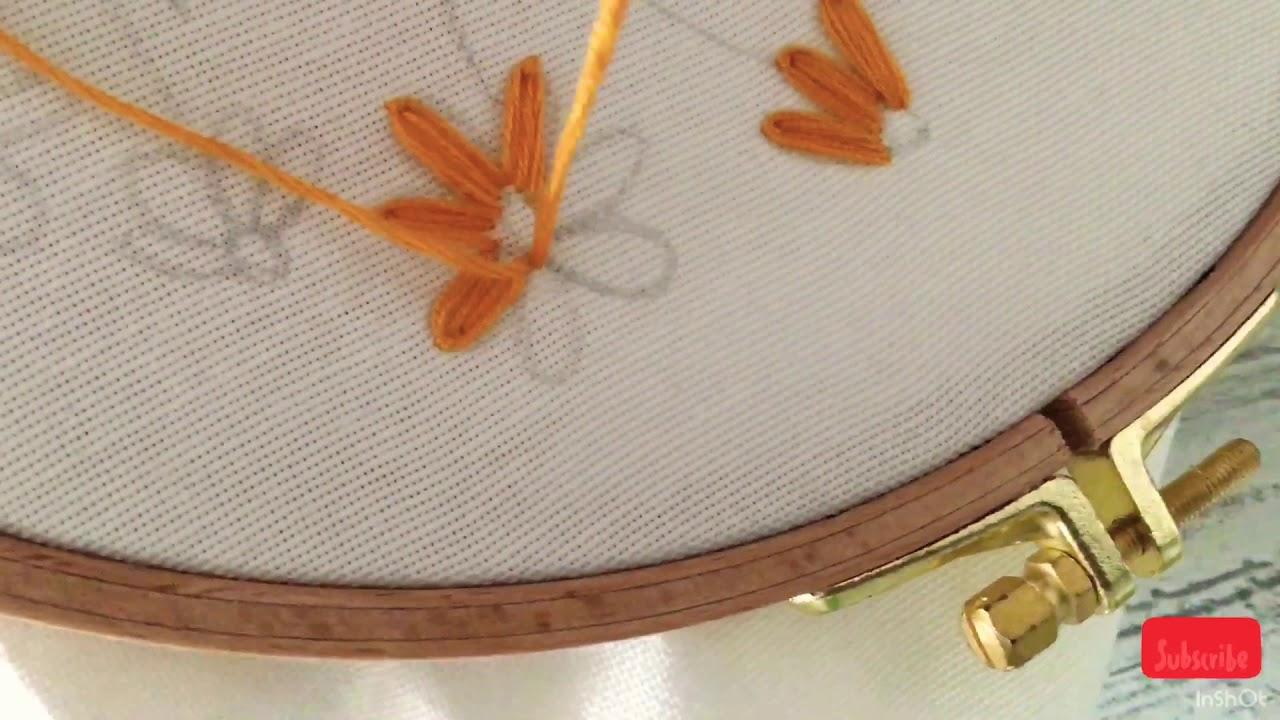 Brezilya nakışı papatya yapımı (lazy daisy stitch) Embroidery