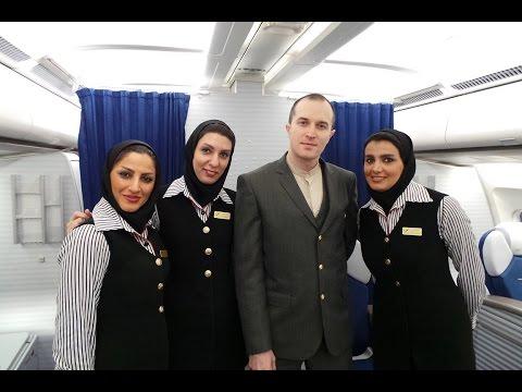 Mahan Air First Class Trip Experience A340-300 Dubai to Tehran