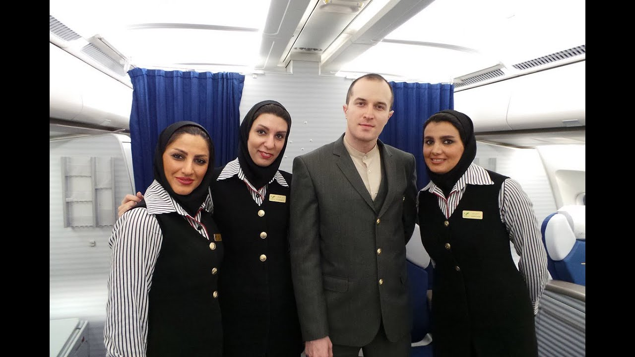 Mahan Air First Class Trip Experience A340-300 Dubai to Tehran