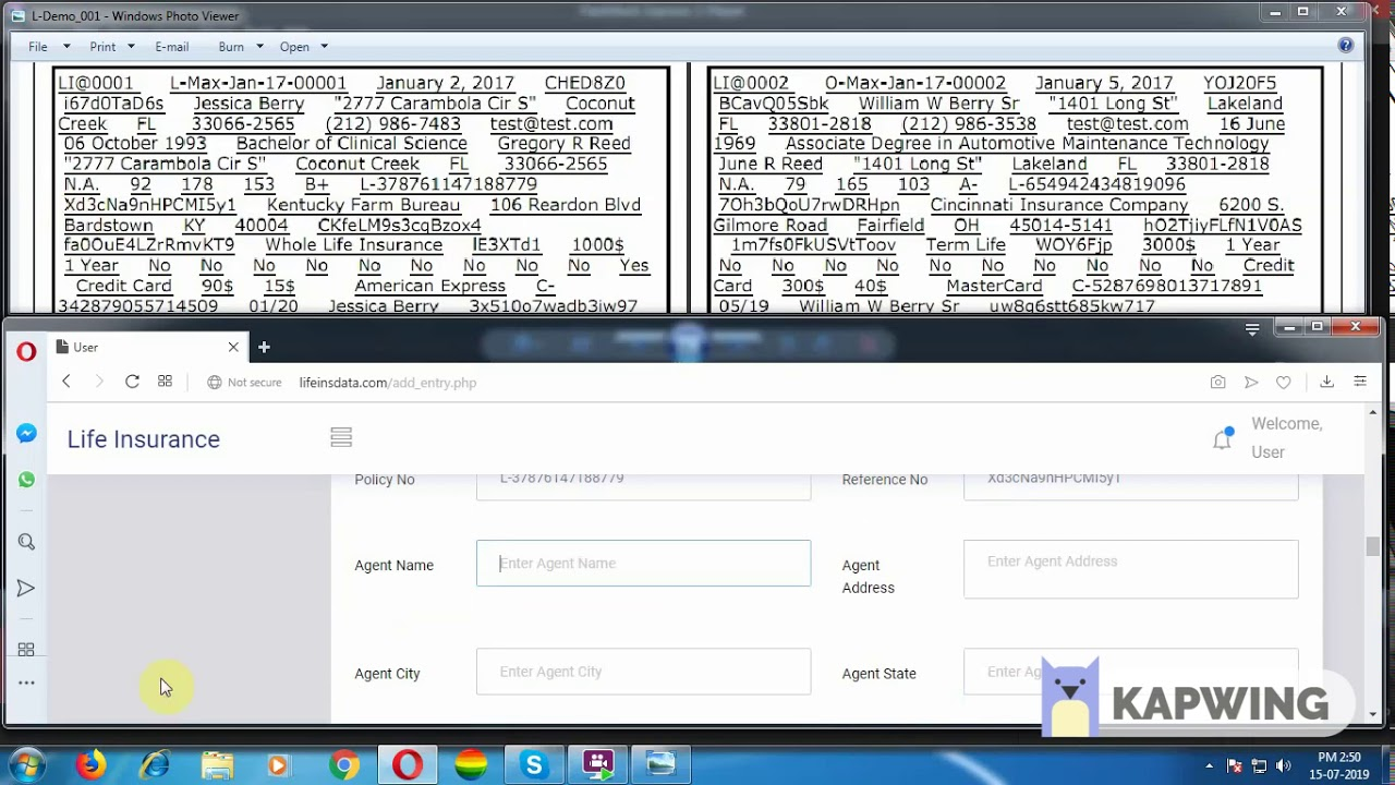 Life Insurance Form Filling Project - Fix Payment - YouTube
