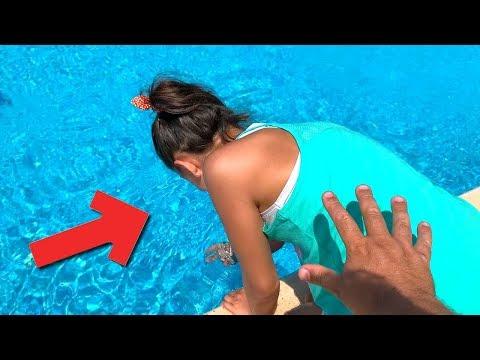Melikeyi Havuza Attım Çok Kızdı Push To The Pool Prank!