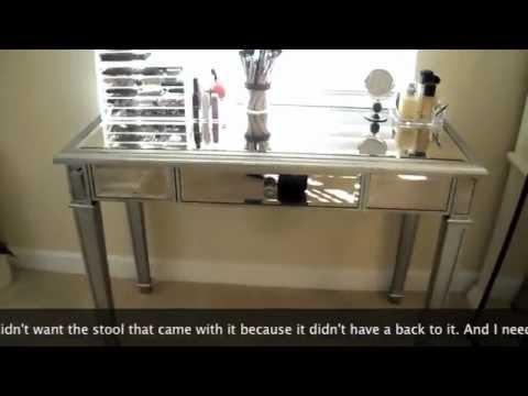 Makeup Vanity U0026 Storage!   YouTube