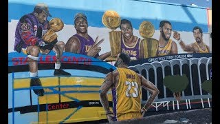BREAKING NEWS! ANOTHER MURAL HAS BEEN CREATED WITH LEBRON JAMES IN LOS ANGELES!