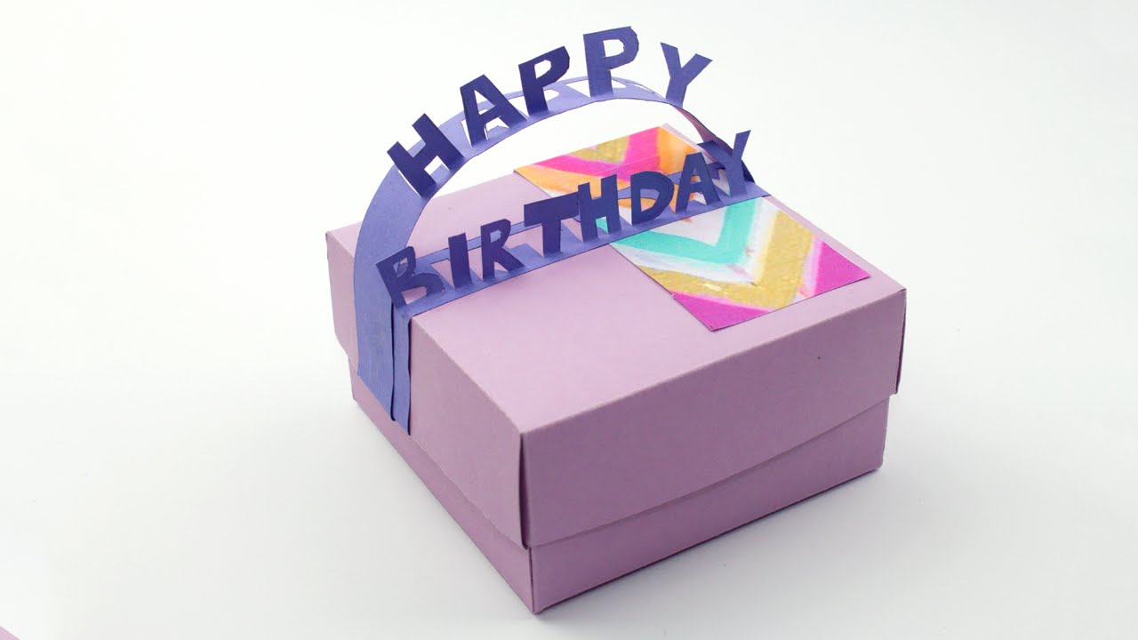 Diy happy birthday gift box youtube negle Image collections