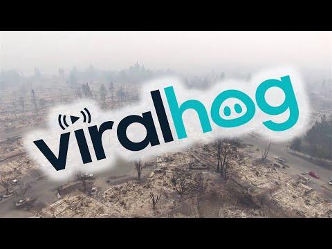 Aftermath of Fire in Santa Rosa, California