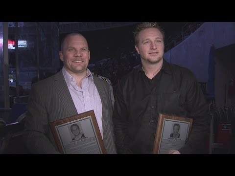 Chad Ackerman and Dominic Maltais Inducted to Admirals Hall of Fame