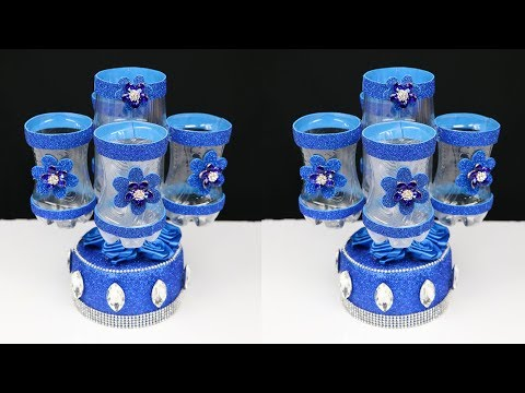 DIY best out of waste plastic bottle craft   plastic bottle organizer   Recycling Ideas