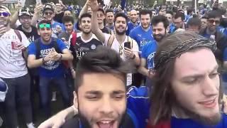 Tifosi italiani del Leicester festeggiano la premier league calciatori brutti leicester fans