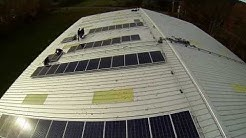 The FieldHouse in Canaan, NY aerial video of solar installation