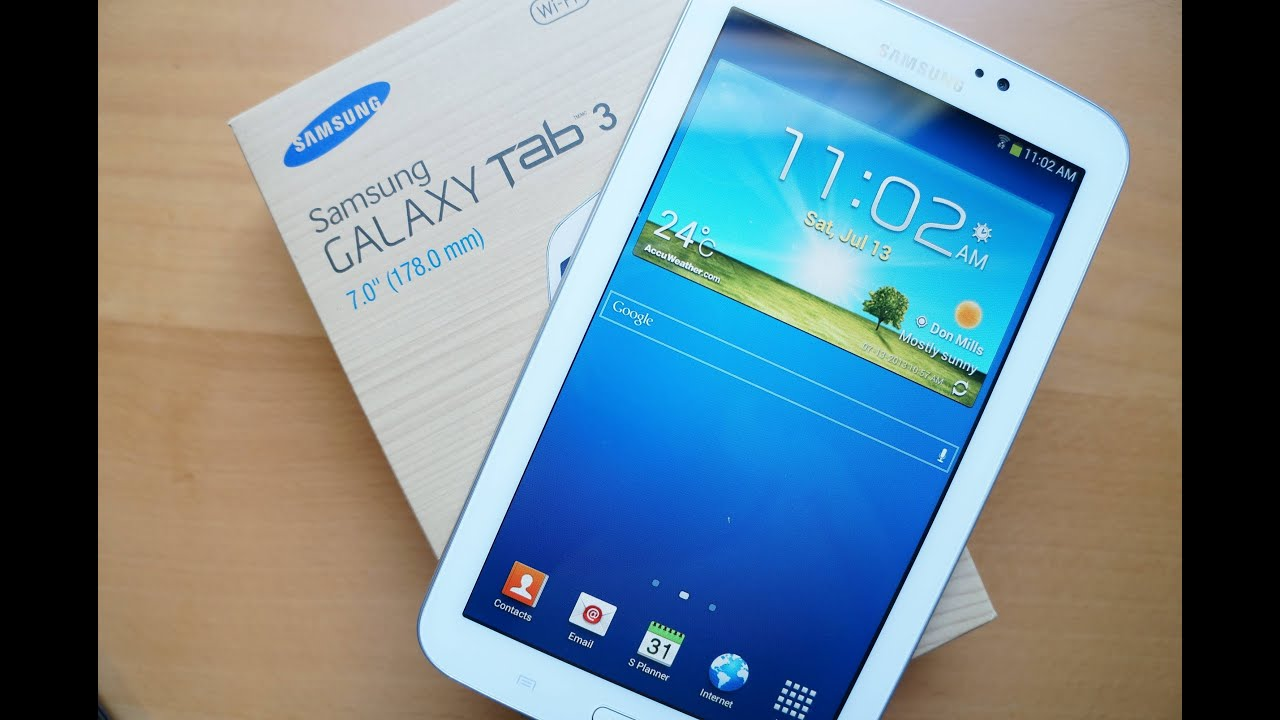 Samsung Galaxy Tab 3 7 0 Unboxing + vs  Galaxy Note II