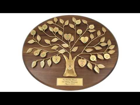 Personalized Family Tree Gifts by LoveIsARose.com