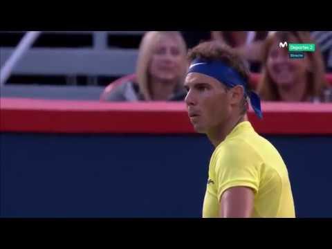 Humorous Hawk Eye FAIL! Rafael NADAL vs Borna CORIC,  ATP 1000 Montreal