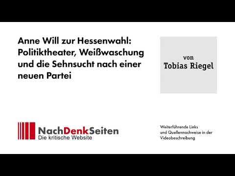 Anne Will zur Hessenwahl: Politiktheater, Weißwaschung und die Sehnsucht nach einer neuen Partei
