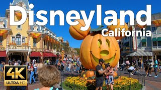 Disneyland California Walking Tour -  Halloween  (4k Ultra HD 60fps)