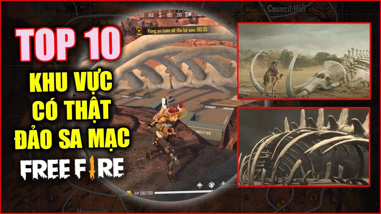 Free Fire | TOP 10 Khu Vực Đảo Sa Mạc Có Thật Ngoài Đời Thật | Rikaki Gaming