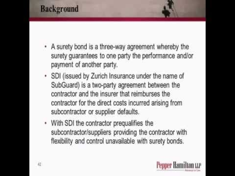 Payment and Performance Surety Bonds and Subguard Insurance in Construction Projects