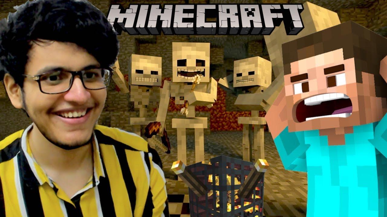 I Built an Infinite XP Skeleton Farm (Minecraft #8)