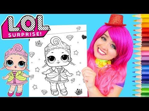 Coloring LOL Surprise Royal High-Ney Coloring Page Prismacolor Pencils | KiMMi THE CLOWN