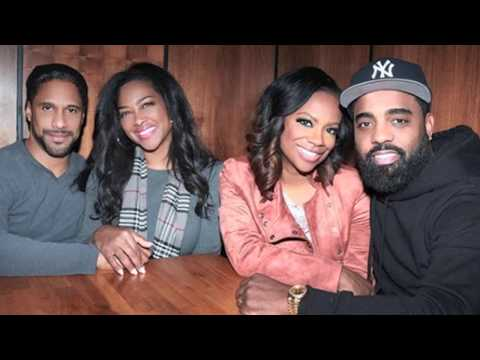 Date Night: Gorgeous Kenya Moore & Husband Marc Daly Double Date With Kandi Burruss & Todd Tucker