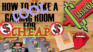 How to make a COOL Gaming Room for CHEAP
