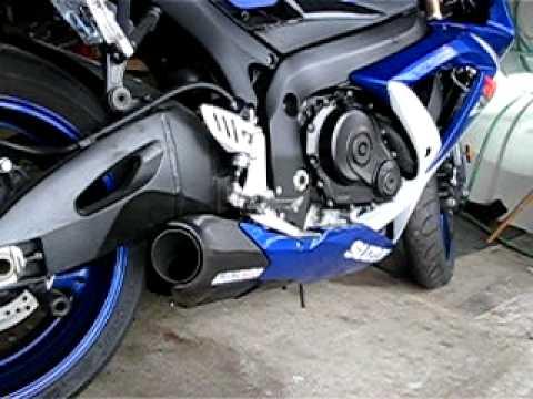 Suzuki Gsxr 600 >> 08 Suzuki Gsxr 750 - Full Taylormade Exhaust - Start up ...
