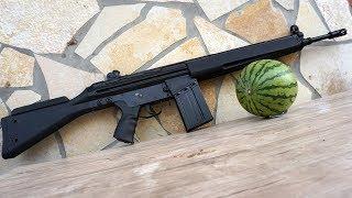 SOFTAIR MONSTER! - Review und Outdoor Test schießen vs Melone | LCT LC 3 elektrisch