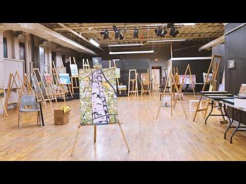 Kitchener Waterloo Artist Paint by Munzy Exhibition