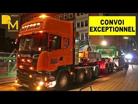 NOOTEBOOM 3+5 SCHWERTRANSPORT SCANIA R500 LIEBHERR 954C BAGGER Oversize Load Excavator