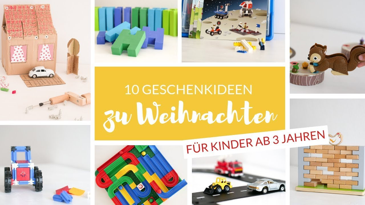 Weihnachtsgeschenke für Kinder ab 3 Jahren - Sinnvolle & langlebige ...