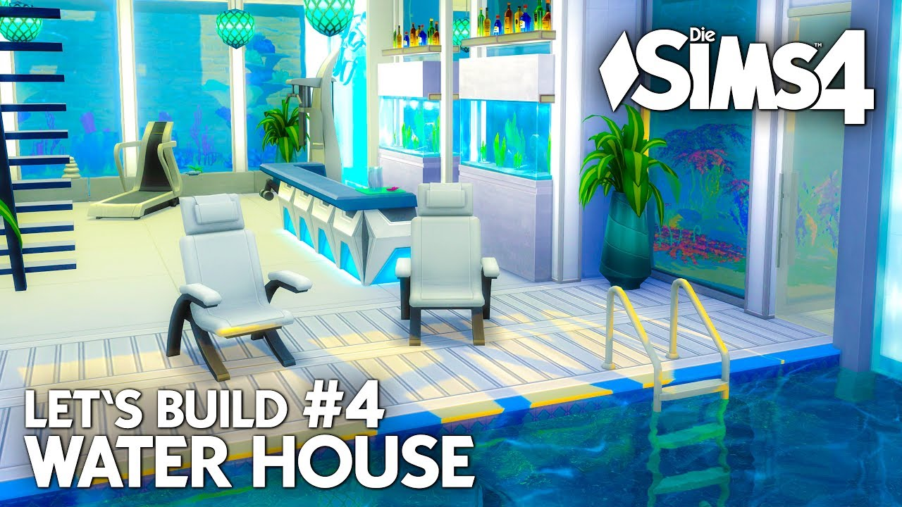 Modernes Die Sims 4 Haus bauen | Water House #4 - Let\'s Build ...