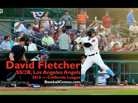 David Fletcher, SS/2B, Los Angeles Angels — California League, 2016