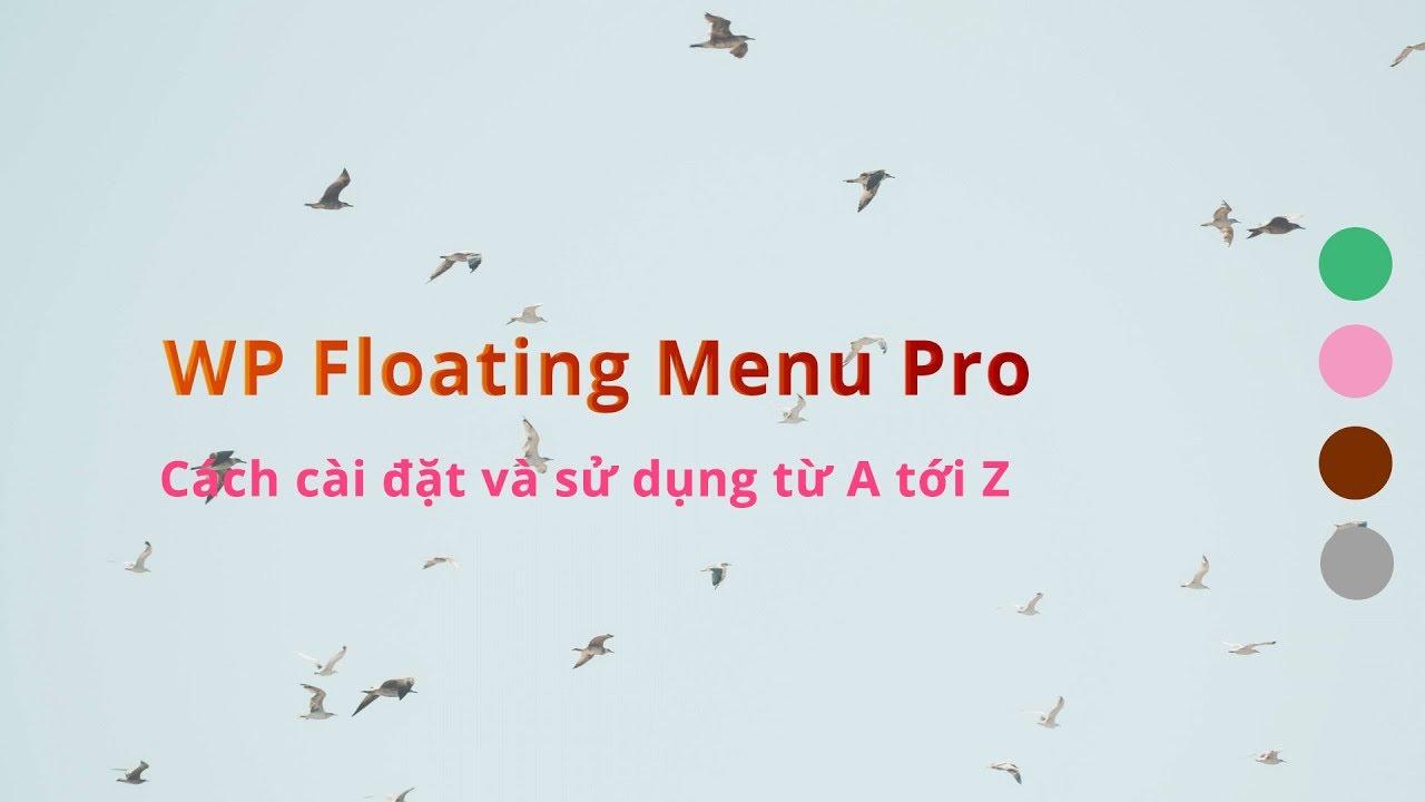 Cách dùng WP Floating Menu Pro – Tạo Floating Menu cho wordpress chuyên nghiệp