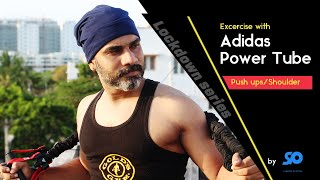 Prima prima Floración  Home workout with Adidas power tube for maximum strength | RESISTANCE BAND  Workouts - YouTube