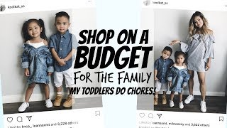 TODDLERS DO CHORES⎮HOW TO SHOP ON A BUDGET FOR THE FAMILY⎮MOM OF 2⎮BALLAN IN STYLE