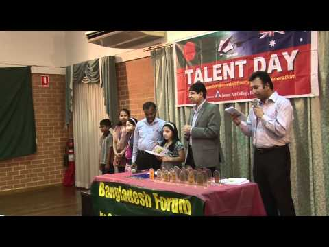 'Talent Day-2012' by Bangladesh Forum for Community Engagement, Sydney.