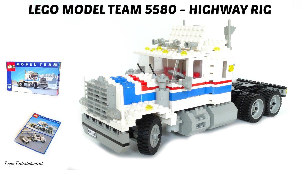lego model team 5580 highway rig from 1986 youtube. Black Bedroom Furniture Sets. Home Design Ideas