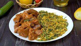 Как приготовить спагетти из кабачков со свининой - Рецепты от Со Вкусом