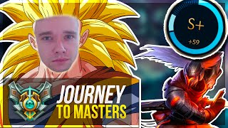 ASCENDING TO NEW LEVELS | S+ CARRY - Journey To Masters #16 - League of Legends