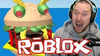 COMIDO POR UM HAMBÚRGUER | Fuja do hambúrguer gigante (ROBLOX) gameplay